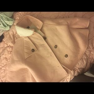 Girls pink suede cape